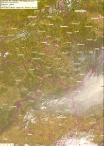 Спутниковый снимок дыма и пожаров 12