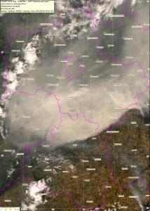 Спутниковый снимок дыма и пожаров 4