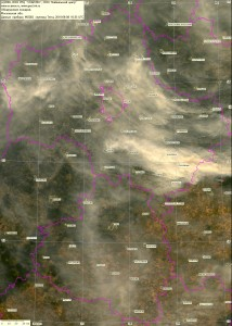 Спутниковый снимок дыма и пожаров 8