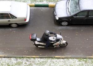 Припорошило снегом в процессе поездки