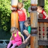 Дети на горке - Брат и Сестра. Две семьи. Два парка - Волошины.РФ