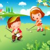 Дети играют в гольф - Рамки по теме: детский спорт - Волошины.РФ
