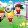 Дети играют в футбол - Рамки по теме: детский спорт - Волошины.РФ